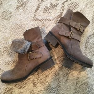 Suede Fur Winter Boot